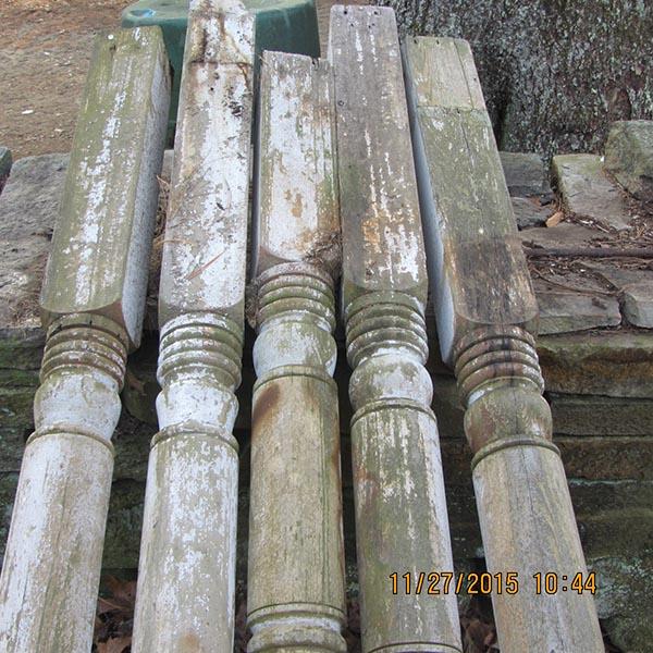 4 X 4 >> Vintage Porch Post Set of Five
