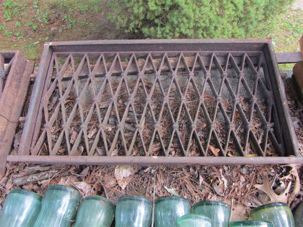 Vintage Cast Iron Window Grates (Pair