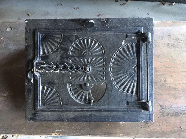 Antique Hardware Circa 1840 Cast Iron Bake Oven Door